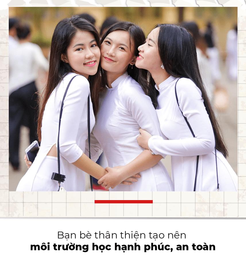 Sự thân thiện, hòa đồng sẽ giúp nuôi dưỡng tình bạn và đẩy lùi bạo lực