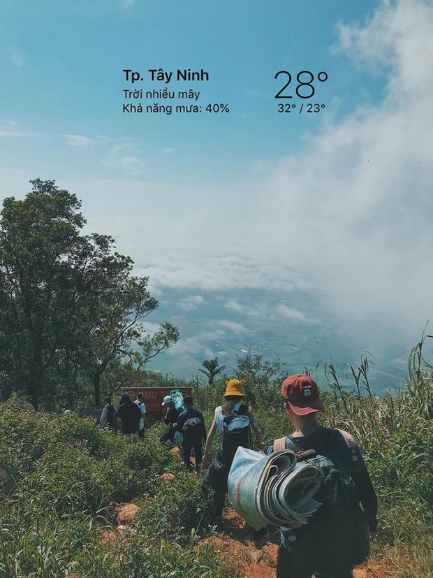 Núi Bà Đen hiện thu hút rất nhiều khách du lịch (Ảnh:@nhan.poca)