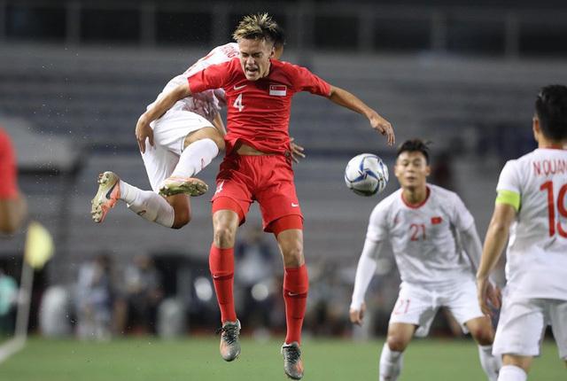 U22 Việt Nam thi đấu khó khăn trước Singapore