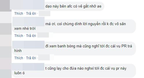Một số bình luận từ CĐV Việt. (Ảnh chụp màn hình)