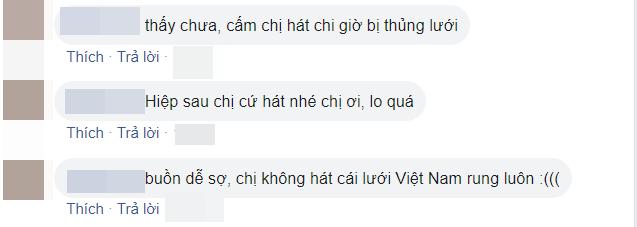 CĐM cho rằng thiếu câu hát của nữ CĐV áo đỏ nên Việt Nam để thủng lưới (Ảnh chụp màn hình)