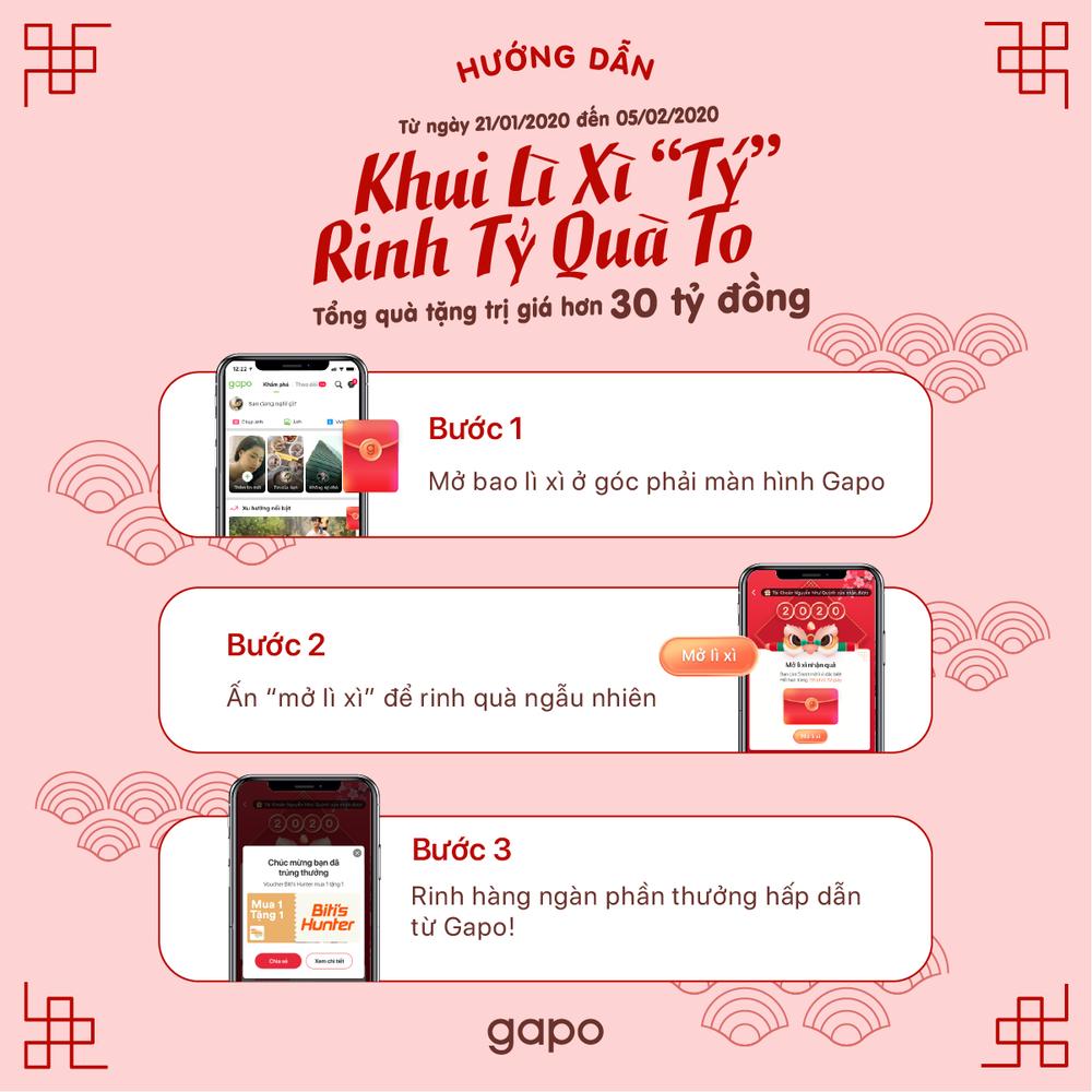 Mỗi người dùng đều có cơ hội nhận được những quà tặng vô cùng giá trị từ Gapo chỉ với 3 bước đơn giản