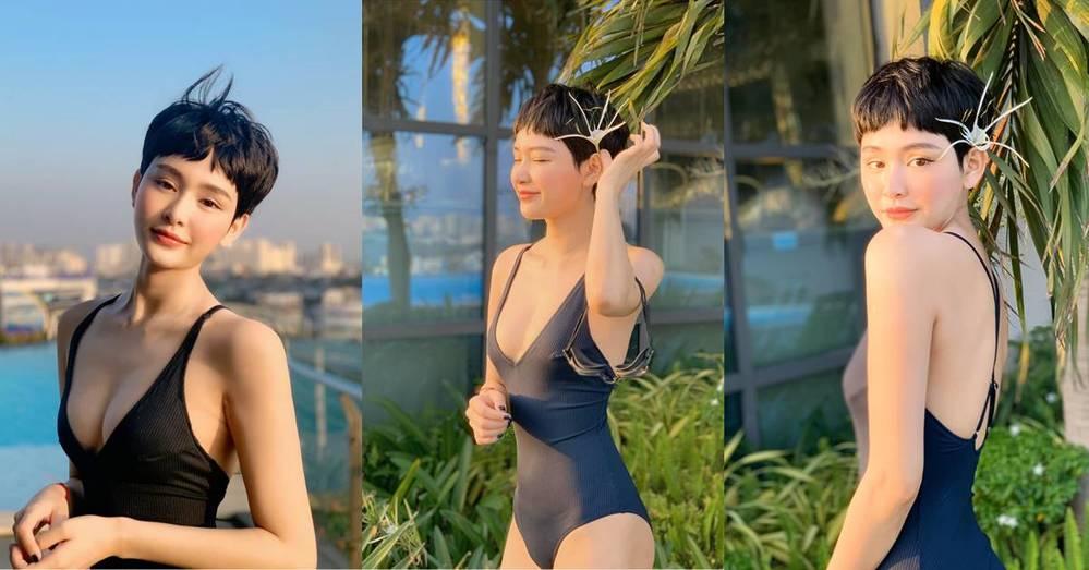 """Trước đây, cô cũng thường xuyên diện những bộ đồ khá kín đáo. Và khi nhìn loạt hình bikini quyến rũ của nữ ca sĩ, fan một mực """"đẩy thuyền"""" kêu gọi Anh Đức vào xem ngay. - Tin sao Viet - Tin tuc sao Viet - Scandal sao Viet - Tin tuc cua Sao - Tin cua Sao"""