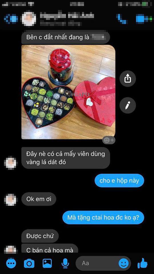 Cô gái đã mua nhiều món quà cùng một lúc để tặng bạn trai. (Ảnh: Chụp màn hình)