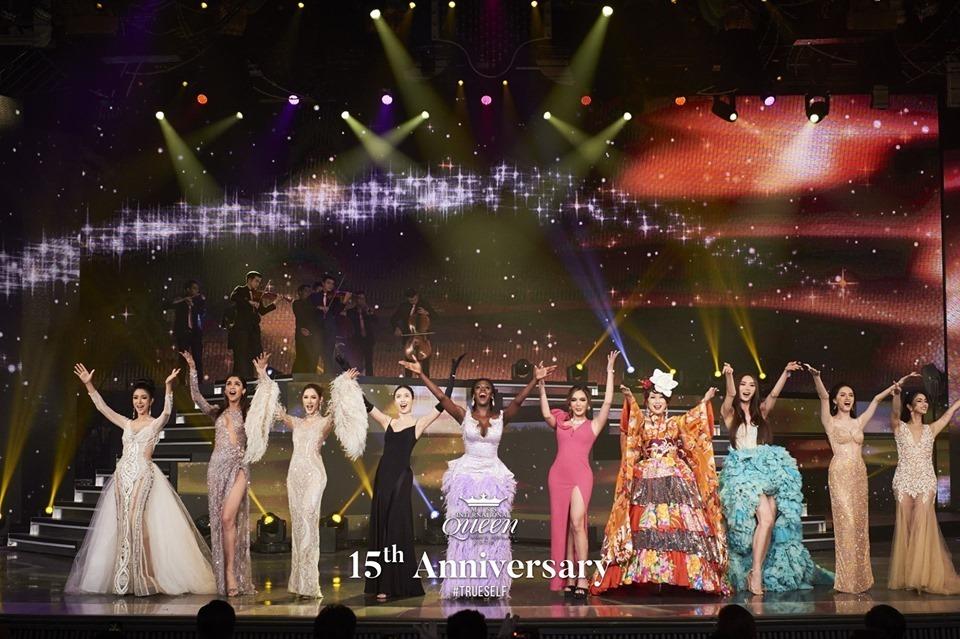 10 Hoa hậu Chuyển giới xuất hiện trong đêm Chung kếtMiss International Queen 2020. (Ảnh: Page cuộc thi)