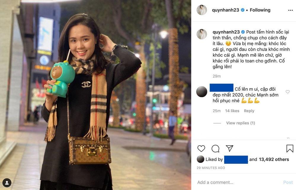 Bài đăng của Quỳnh Anh nhanh chóng nhận được sự quan tâm của người hâm mộ.