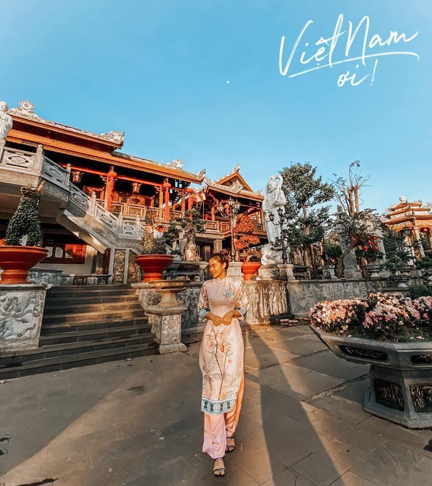 Chùa sắc tứ Khải Đoan là ngôi chùa lớn nhấttại Đắk Lắk. (Ảnh: Thu Phương/Group Việt Nam Ơi)