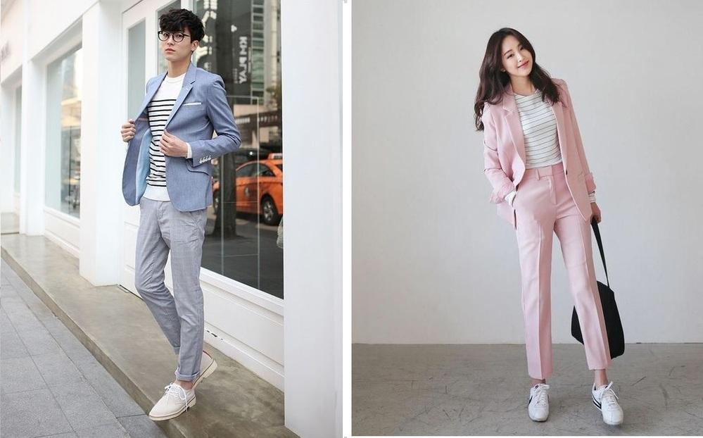 Trang phục khi đi làm cho nam và nữ - Ảnh: Pinterest
