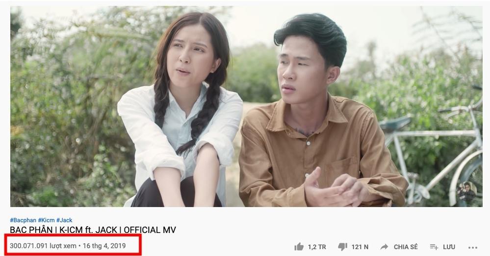 MV đạt 300 triệu của Jack (Ảnh: chụp màn hình).