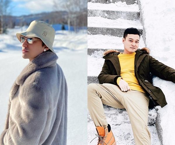 Cả hai đều đăng ảnh du hí đến miền tuyết trắng vào năm 2020. (Ảnh: FBNV)