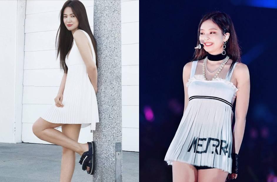 Cả Song Hye Kyo lẫn Jennie đều chịu thua với kiểu váy cầu lông. (Ảnh: Pinterest)