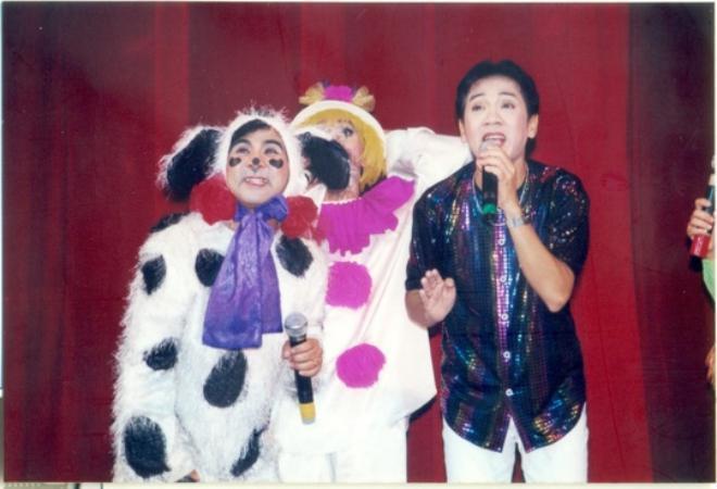 Bạch Long và Thành Lộc trong những năm đầu theo nghề sân khấu.