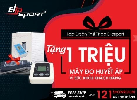 Tập đoàn Elipsport triển khai chương trình tặng 1 Triệu máy đo huyết áp đến khách hàng.