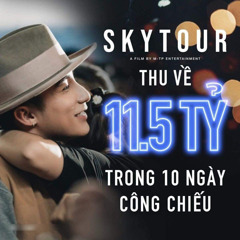"""""""Sky Tour Movie"""" chạm mốc 11.5tỷ đồng sau khi rời rạp(Ảnh: Facebook nhân vật)"""