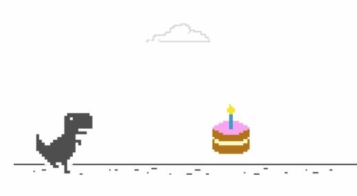 Bánh sinh nhật xuất hiện nhân dịp T-Rex thêm một tuổi mới. (Ảnh: Google)