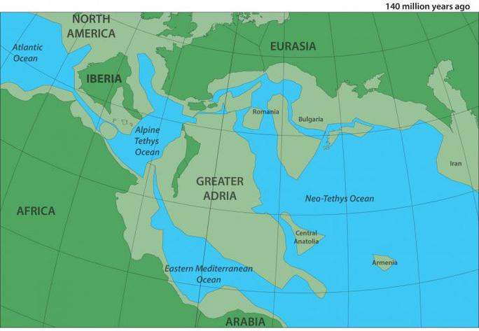 """Bản đồ mô tả lục địa bị """"lãng quên"""" và ẩn mình dưới lòng đại dương. (Ảnh: Twitter)"""