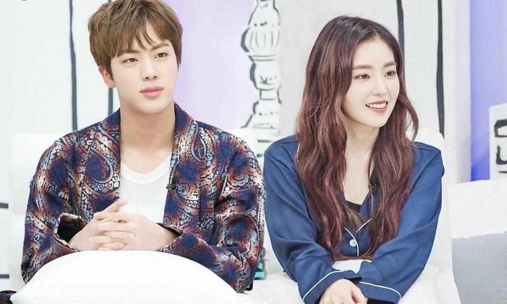 Irene và Jin chung khung hình quả là đẹp đôi. (Ảnh: Twitter).