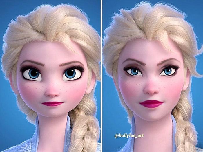 Nhiều cư dân mạng Việt Nam còn cho rằng nhìn Elsa có nét giống Hồ Ngọc Hà (Ảnh: @hollyfae_art)