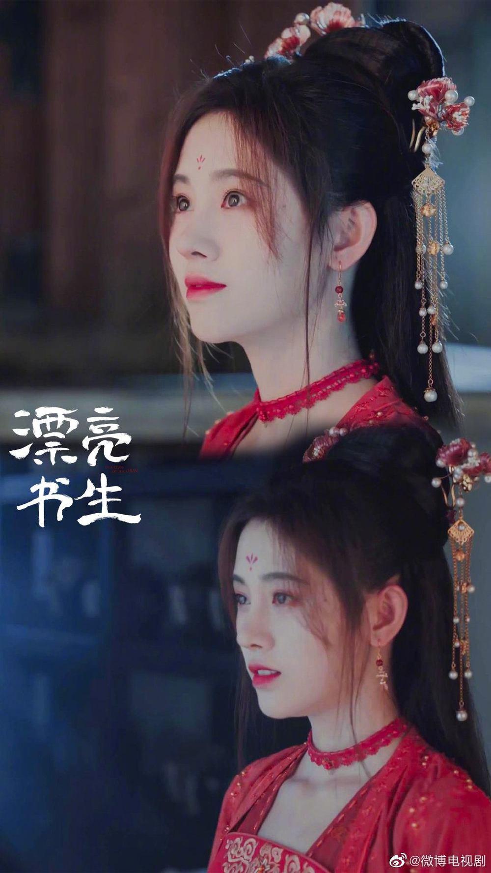 """Văn Hi xinh đẹp như thế này thì bảo saoPhong Thừa Tuấn cũng """"liêu xiêu"""" (Ảnh Weibo)"""