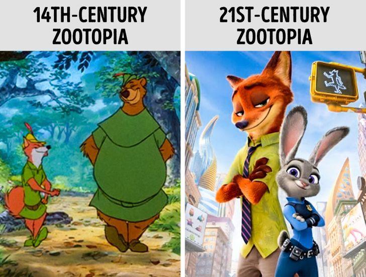 Thế giới động vật cũng phát triển chẳng kém thế giới con người (Ảnh Disney)