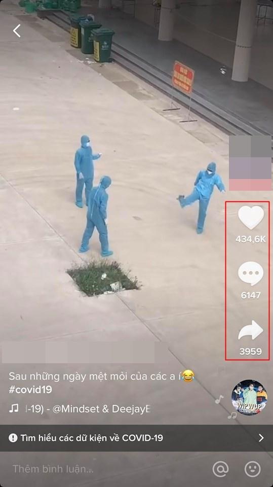 Đoạn clip được chia sẻ trên TikTok nhận về khá nhiều lượt like, share và bình luận. (Ảnh: Chụp màn hình).
