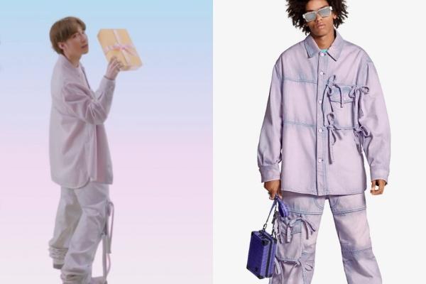 Trang phục trong MV toàn hàng hiệu giá khủng. (Ảnh: FBNV, LV)