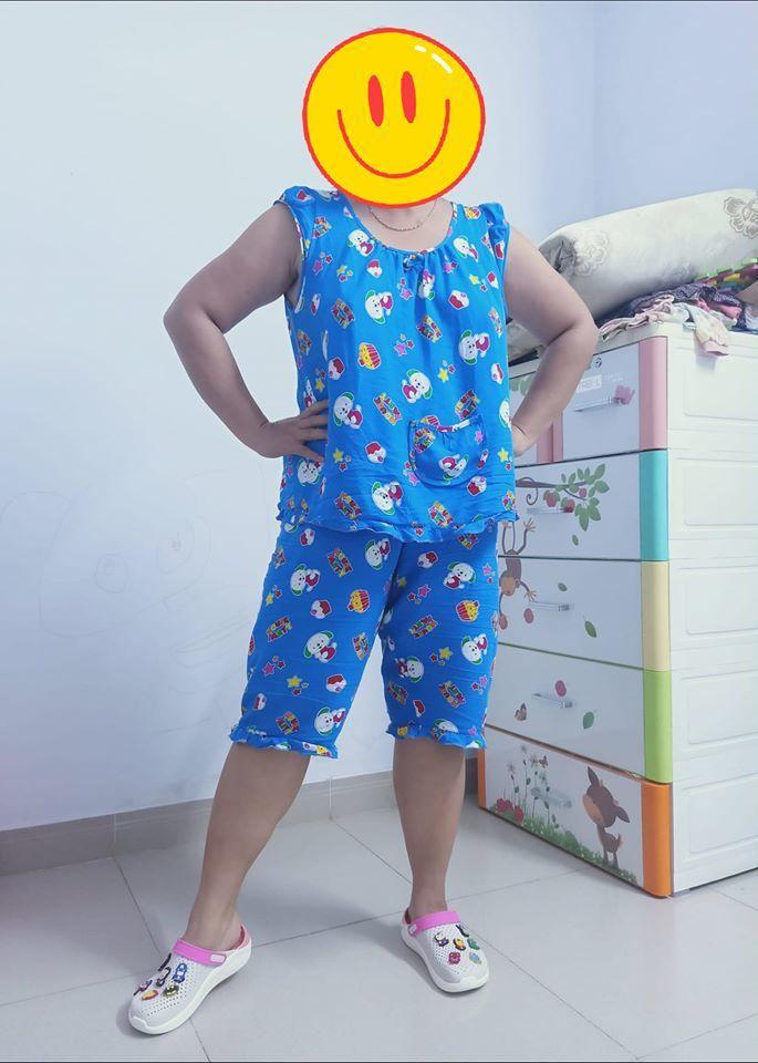 Cô cũng là người thường xuyên sử dụng kiểu trang phục này. Tuy nhiên, điều cô muốn khẳng định là chi tiết nếu mặc đồ bộ ra ngoài cần phải có nội y. (Ảnh: FBNV) - Tin sao Viet - Tin tuc sao Viet - Scandal sao Viet - Tin tuc cua Sao - Tin cua Sao