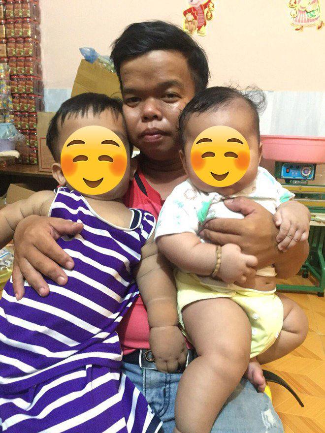 Anh D.P và hai người con của mình.(Ảnh: Thời Đại)
