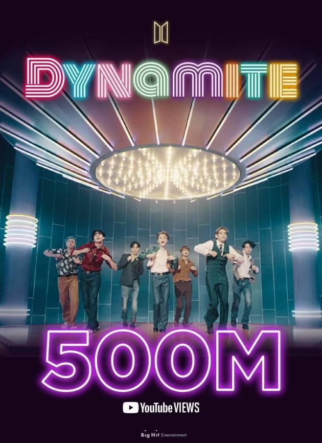 MV Dynamite của BTS chính thức đạt 500 triệu lượt xem. (Ảnh: instagram)