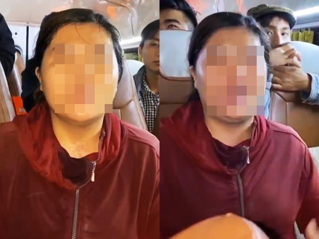 Người phụ nữ ăn chặn tiền từ thiện bị Thủy Tiên đưa lên livestream tố cáo (Ảnh: Chụp màn hình)
