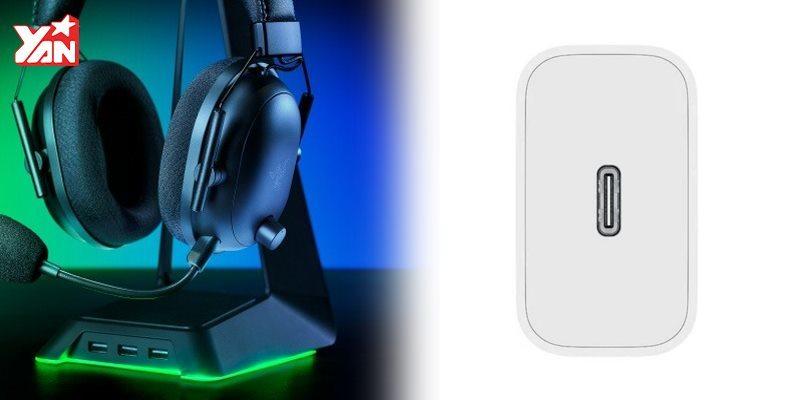 Blackshark V2 Pro và cục sạc nhanhXiaomi.