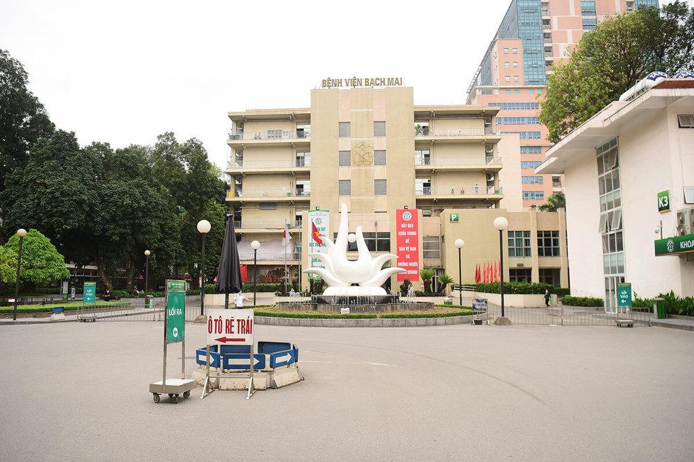 Bệnh viện Bạch Mai - nơi bệnh nhân điều trị. (Ảnh: Tuổi Trẻ)
