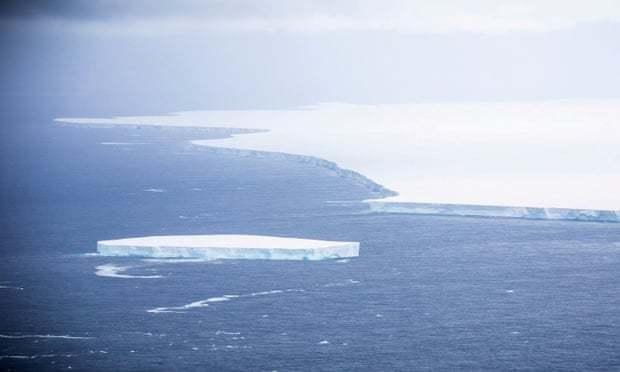 Một góc của tảng băng A-68A. (Ảnh: Reuteurs)