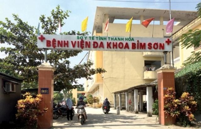 Bệnh việnĐa khoa Bỉm Sơn là nơi tiếp nhậnđiều trị cho bệnh nhân này. (Ảnh: Dân Trí)