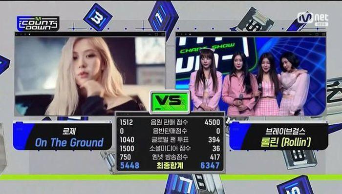 Họ đã vượt qua Rosé khi quảng bá trên M!Countdown. (Ảnh: Mnet)