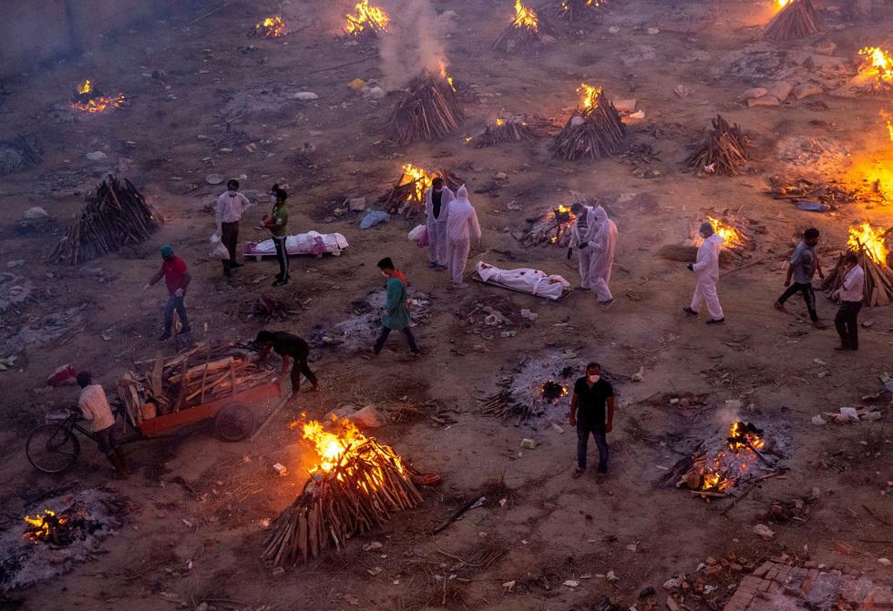 Cảnh tượng ám ảnh tại Ấn Độ. (Ảnh: Reuters)