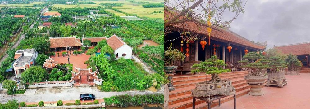Khuôn viên rộng lớn với nhiều cây xanh của giađình anh L.T.H. (Ảnh: VietNamNet)