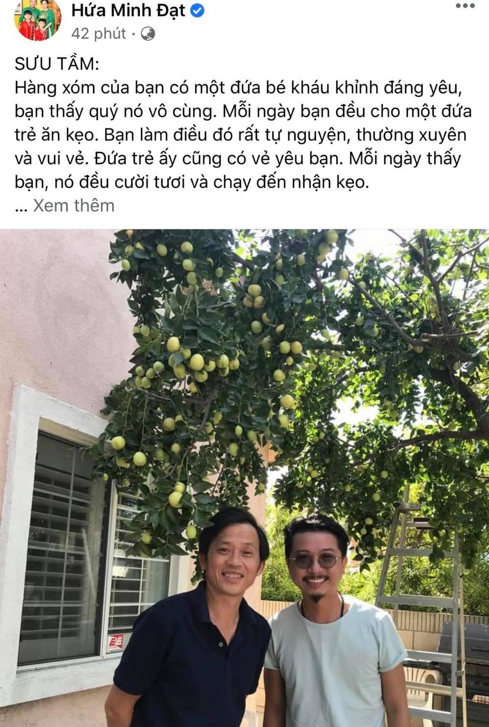 Bài đăng của Hứa Minh Đạt khiến khán giả cho rằng anh đang ẩn ý về Hoài Linh. (Ảnh: Chụp màn hình)