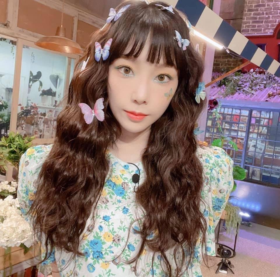 Phong cách trang điểm lấy bướm làm cảm hứng của giọng ca chính SNSD cho thấy sức sáng tạo của idol là không giới hạn. (Ảnh: Instagram)