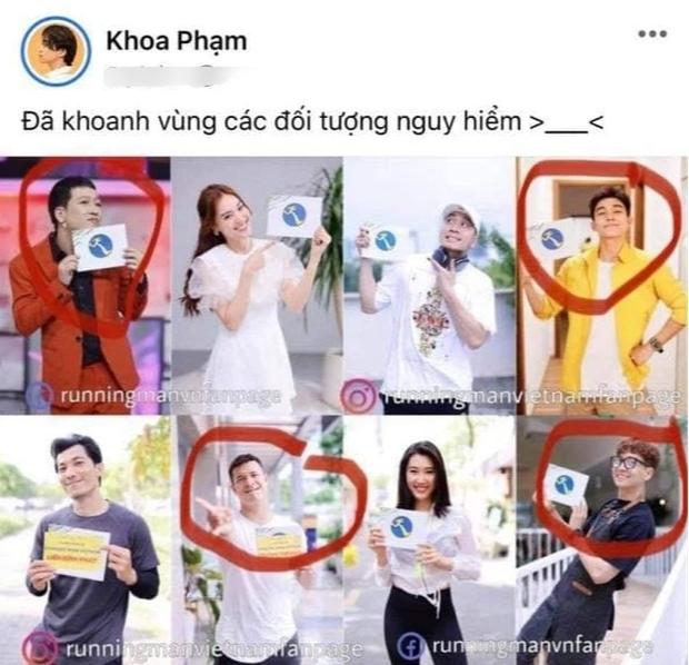 Karik chọn những nhân vật nguy hiểm ở Running Man Việt Nam mùa 2. (Ảnh: Chụp màn hình)