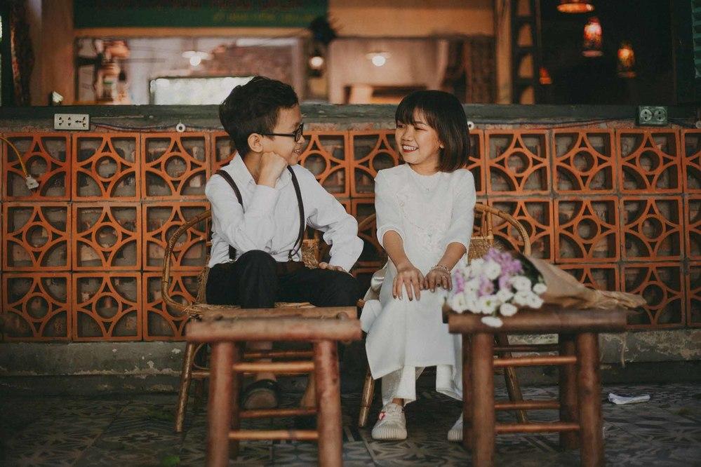 Ảnh kỉ niệm 1 năm ngày cưới của cặp đôido Trà Trần thực hiện. (Ảnh: Facebook nhân vật).