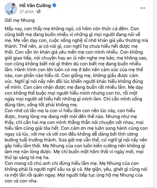 Bức tâm thư của Hồ Văn Cường. - Tin sao Viet - Tin tuc sao Viet - Scandal sao Viet - Tin tuc cua Sao - Tin cua Sao