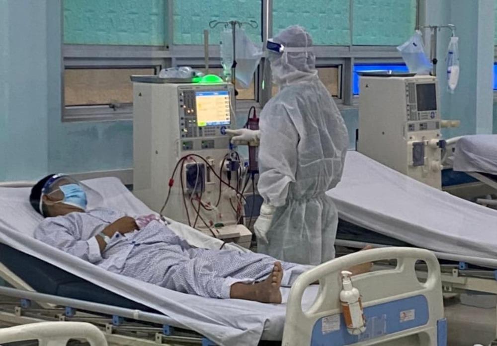 Bệnh nhânđiều trị Covid-19 tại Bệnh viện dã chiến. (Ảnh: Sở Y Tế TP.HCM)