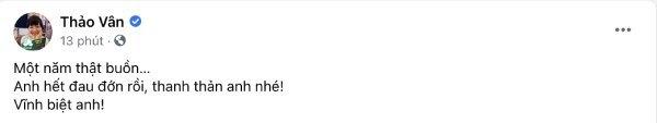 MC Thảo Vân gửi lời tiễn biệt Thảo Vân. (Ảnh: Chụp màn hình) - Tin sao Viet - Tin tuc sao Viet - Scandal sao Viet - Tin tuc cua Sao - Tin cua Sao