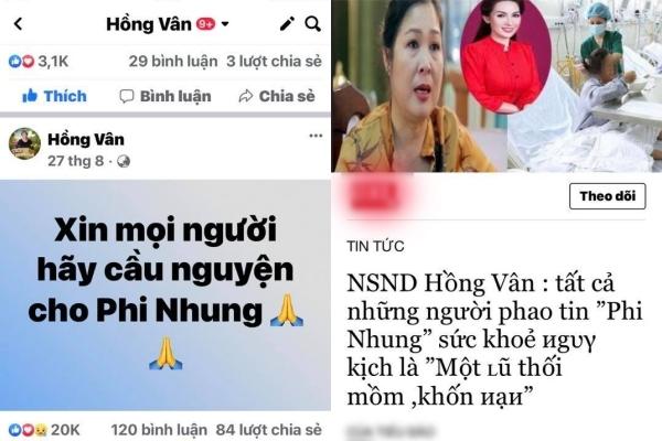 Bài đăng của Hồng Vân vào ngày 27/8 không nhắc đến tình hình sức khỏe hay mắng ai. - Tin sao Viet - Tin tuc sao Viet - Scandal sao Viet - Tin tuc cua Sao - Tin cua Sao