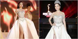 Cơ hội nào cho Tân Hoa hậu Đại dương 2017 khi 'đụng' váy Hoa hậu U50 Giáng My?