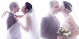 Ảnh cưới ngọt ngào của Á quân Vietnam's Next Top Model 2012 và chồng Tây