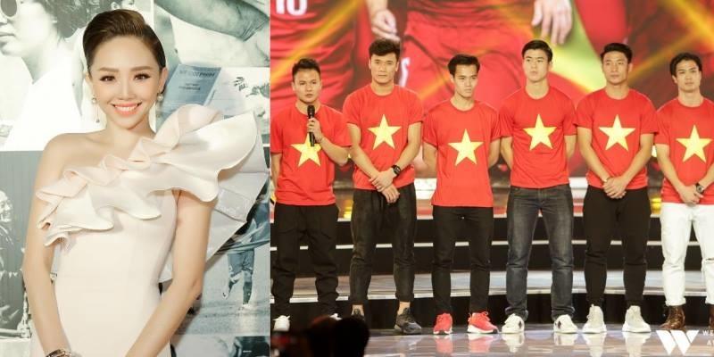 Dù tham dự chung sự kiện nhưng Tóc Tiên không được chụp hình chung U23, biết lý do mà tiếc