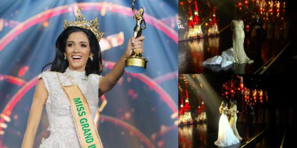 Trường hợp hy hữu đi vào lịch sử: Người đẹp Paraguay ngất xỉu khi đăng quang Miss Grand 2018