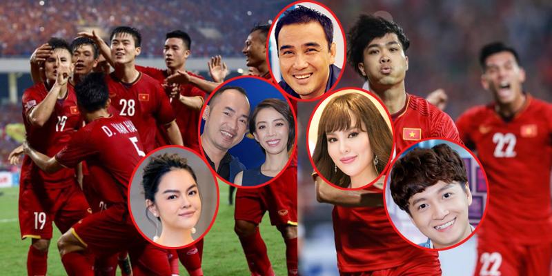 Dàn sao Việt vỡ oà hạnh phúc khi đội tuyển Việt Nam đánh bại Philippines vào chung kết AFF Cup 2018